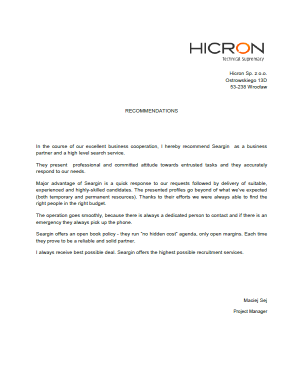 Hicron-recommendation-Seargin-project